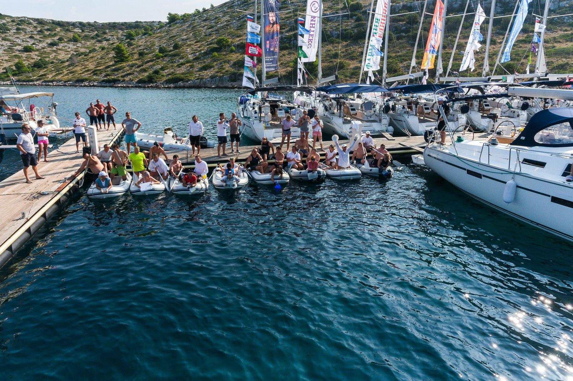 Причал, надувные лодки, конкурс - ДСМ групп Фармрегата 2019 - DSM Group Pharmregata 2019