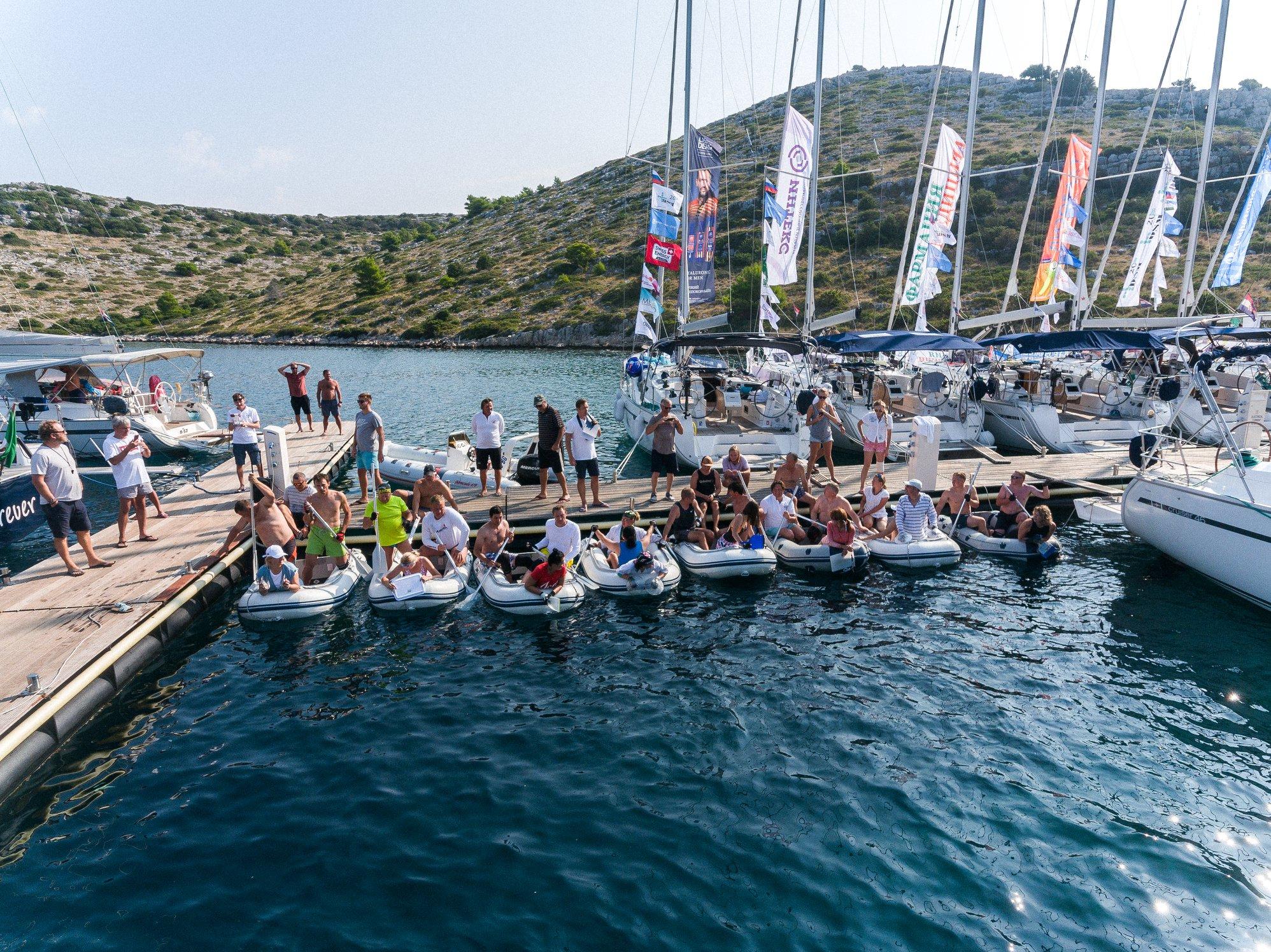 Причал, надувные лодки - ДСМ групп Фармрегата 2019 - DSM Group Pharmregata 2019